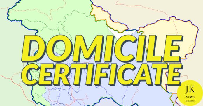 Domicile-Certificate